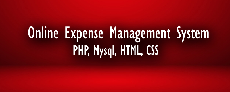 Download Free Online Expense Management System Using PHP MySql