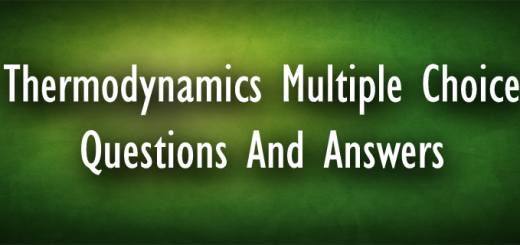 Thermodynamics Multiple Choice Questions And Answers