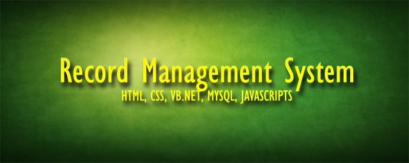 Download Record Management System Using VB.NET