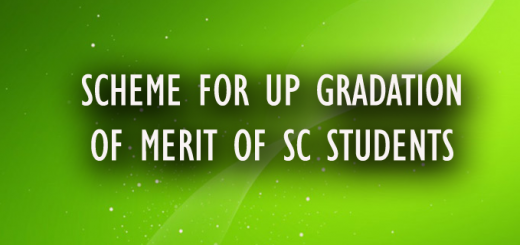 SCHEME FOR UP GRADATION OF MERIT OF SC STUDENTS