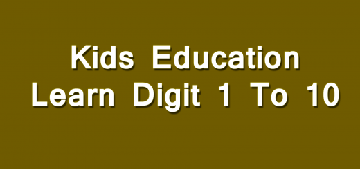 Learn Digit 1 To 10